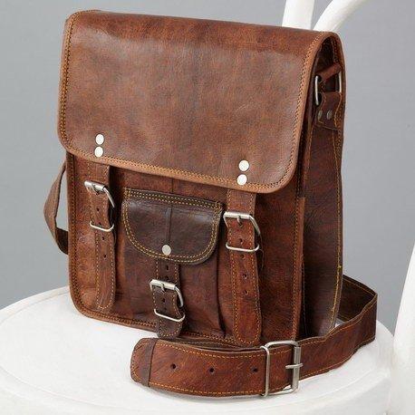 Craftshades Handmade Leather Messenger Bag Laptop Inc