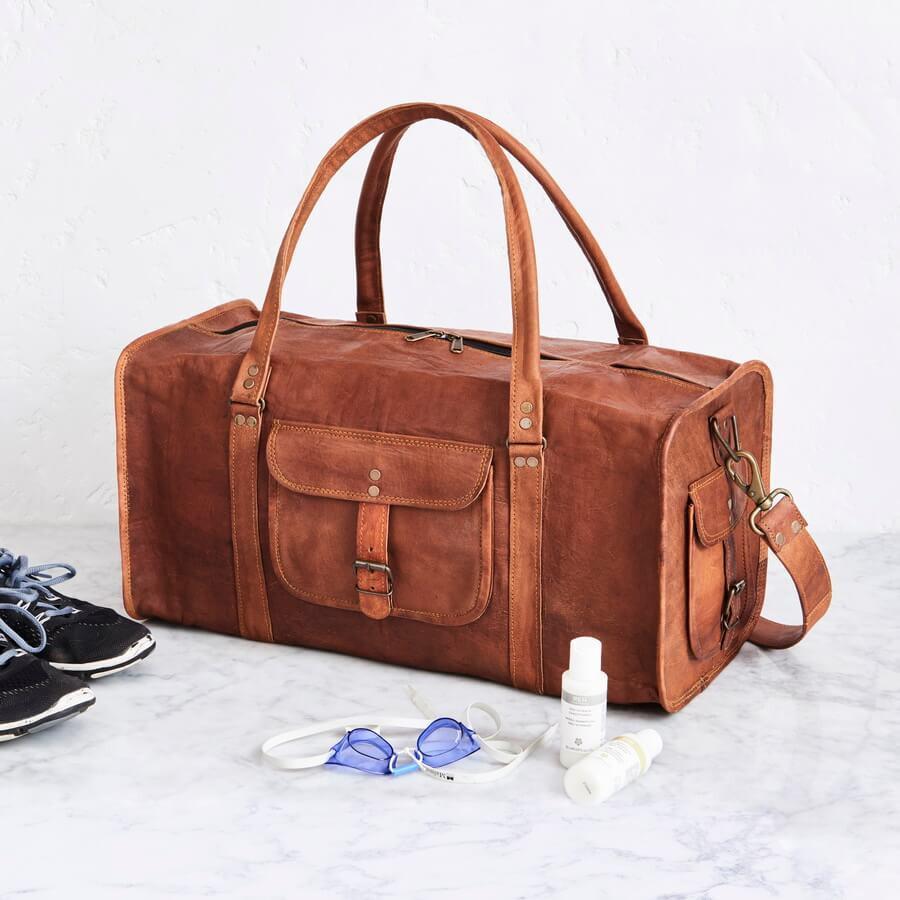 2e8c50b47ac2 HomeWomen100% Genuine Leather Bag duffle bags. 16%. Previous