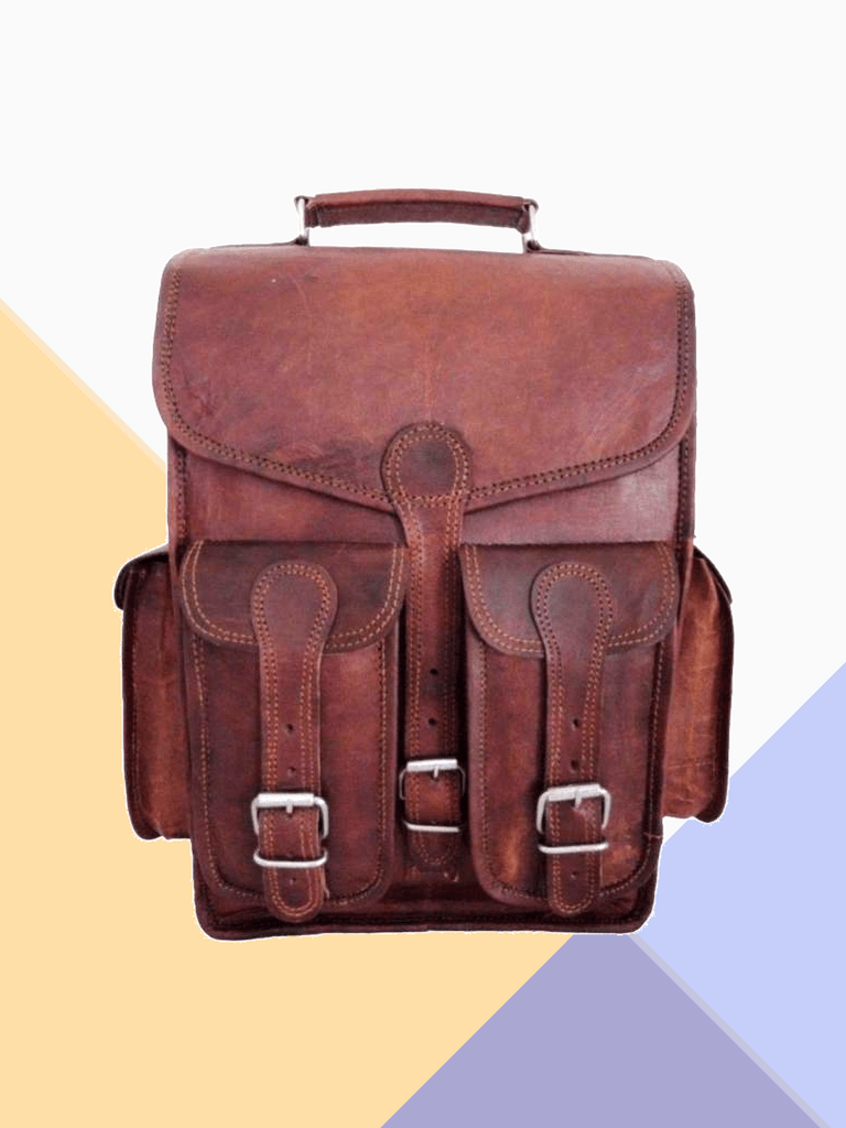 a97d478d7c77 CraftShades Genuine Handmade Leather Bag 10 L Backpack (Brown