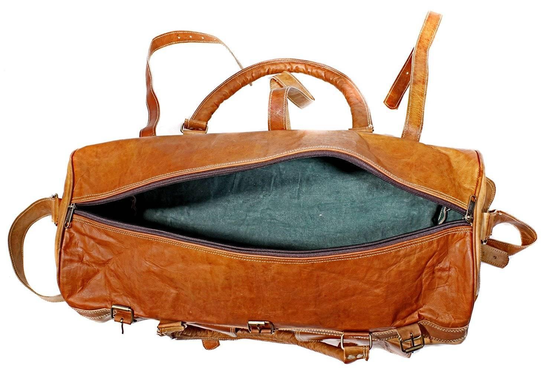 5a082d08aea6 HomeUncategorizedCraftShades Handmade Leather Duffle Bag For Travel