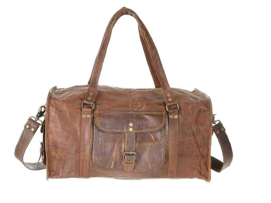 7f1c3776a77c HomeLeather Fashion AccessoriesCraftShades Handmade Leather Bag (Expandable)  Travel Duffel Bag (Brown). 17%. Previous