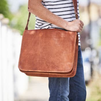 a996db39ec4b CraftShades Premium Handmade leather messenger bag