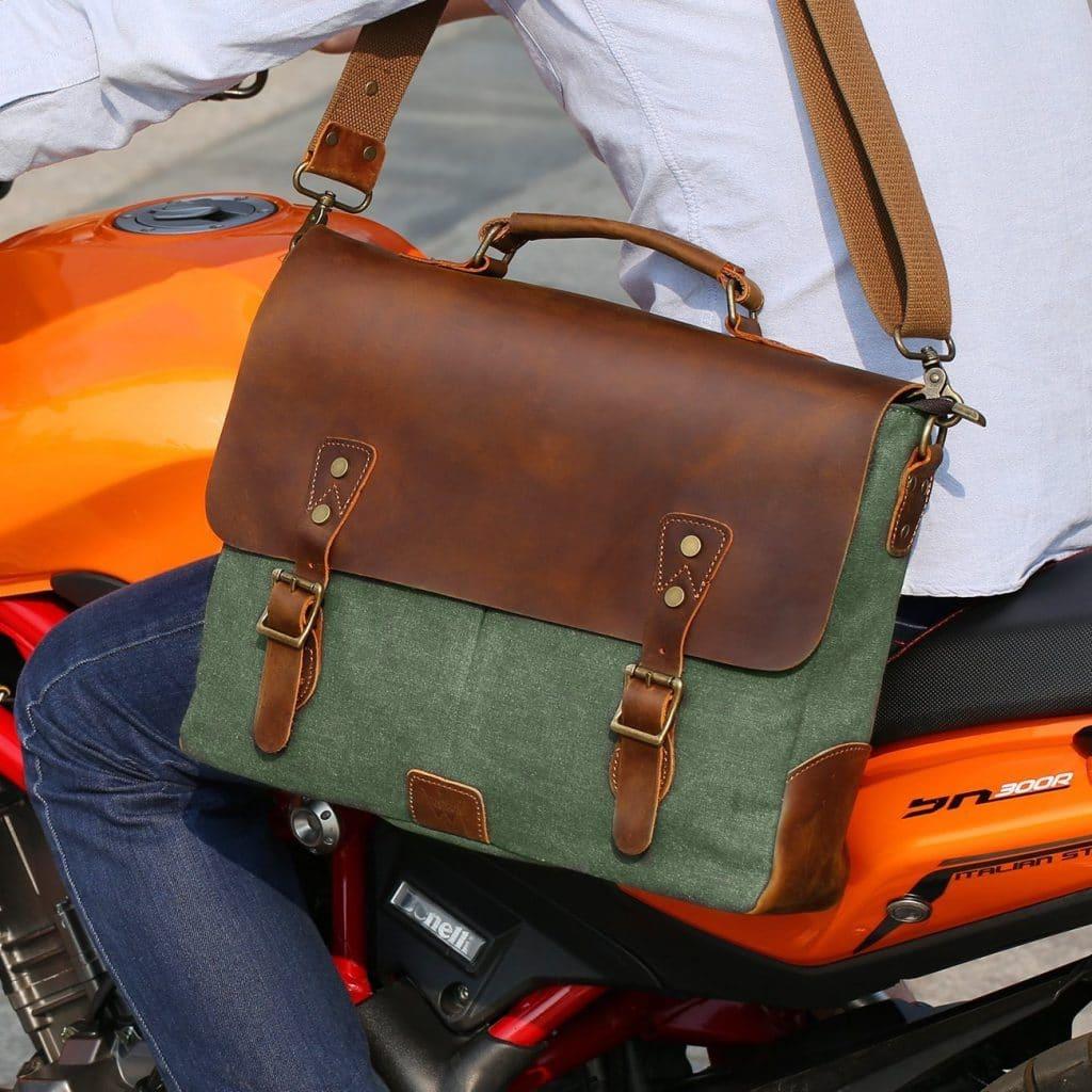 cb051a68ee70 HomeMessenger bagsCraftShades Canvas plus Leather laptop bag. 56%.  Previous. Next